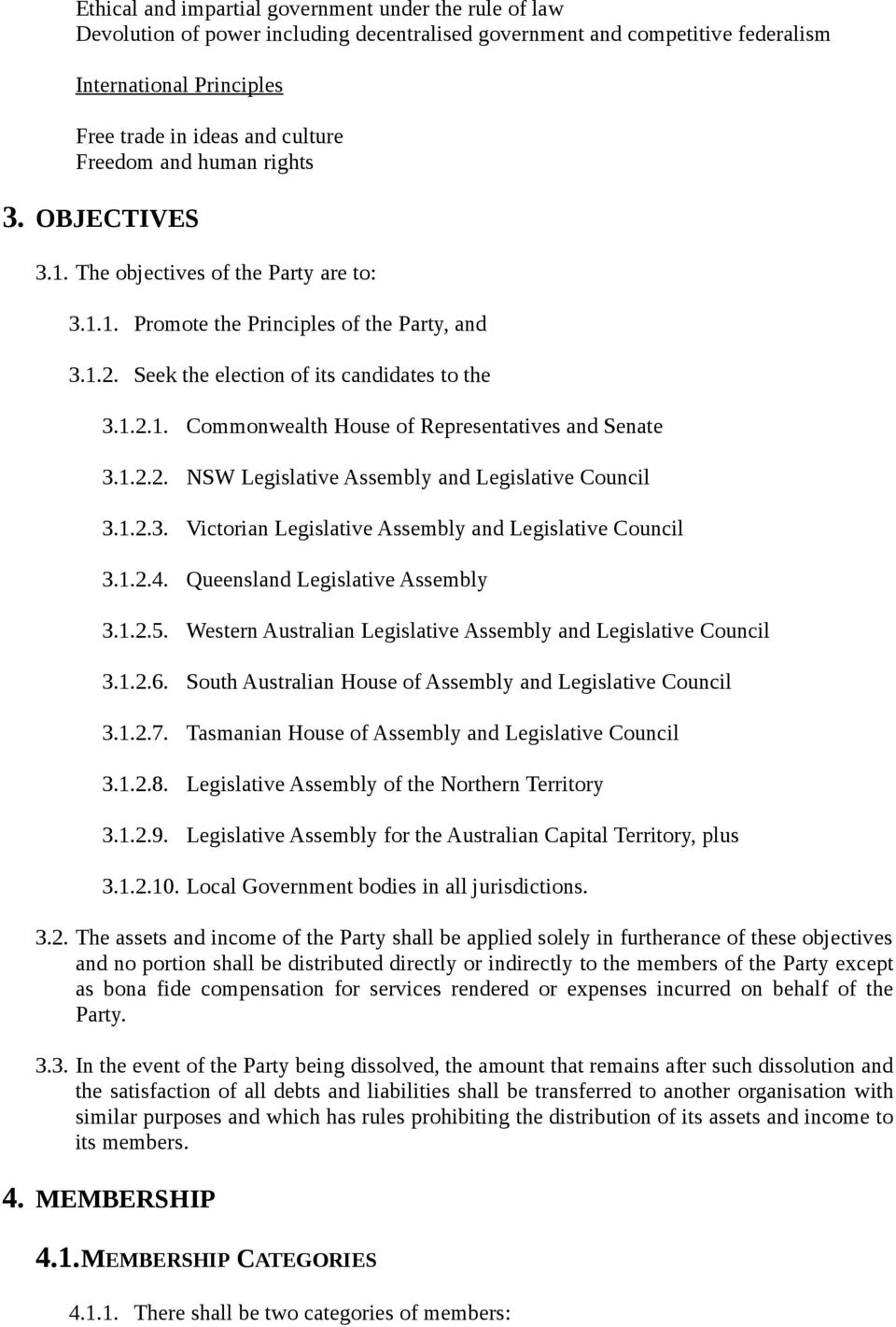 1.2.2. NSW Legislative Assembly and Legislative Council 3.1.2.3. Victorian Legislative Assembly and Legislative Council 3.1.2.4. Queensland Legislative Assembly 3.1.2.5.