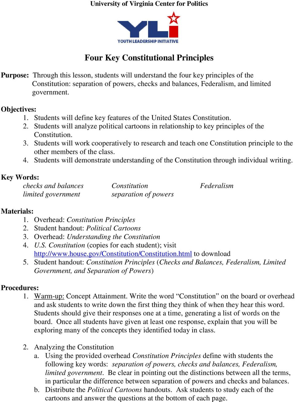 worksheet Seven Principles Of Government Worksheet Answers four key constitutional principles pdf students will analyze political cartoons in relationship to of the constitution 3