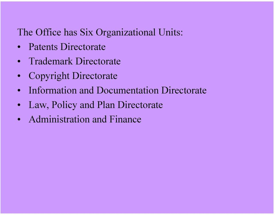 Directorate Information and Documentation