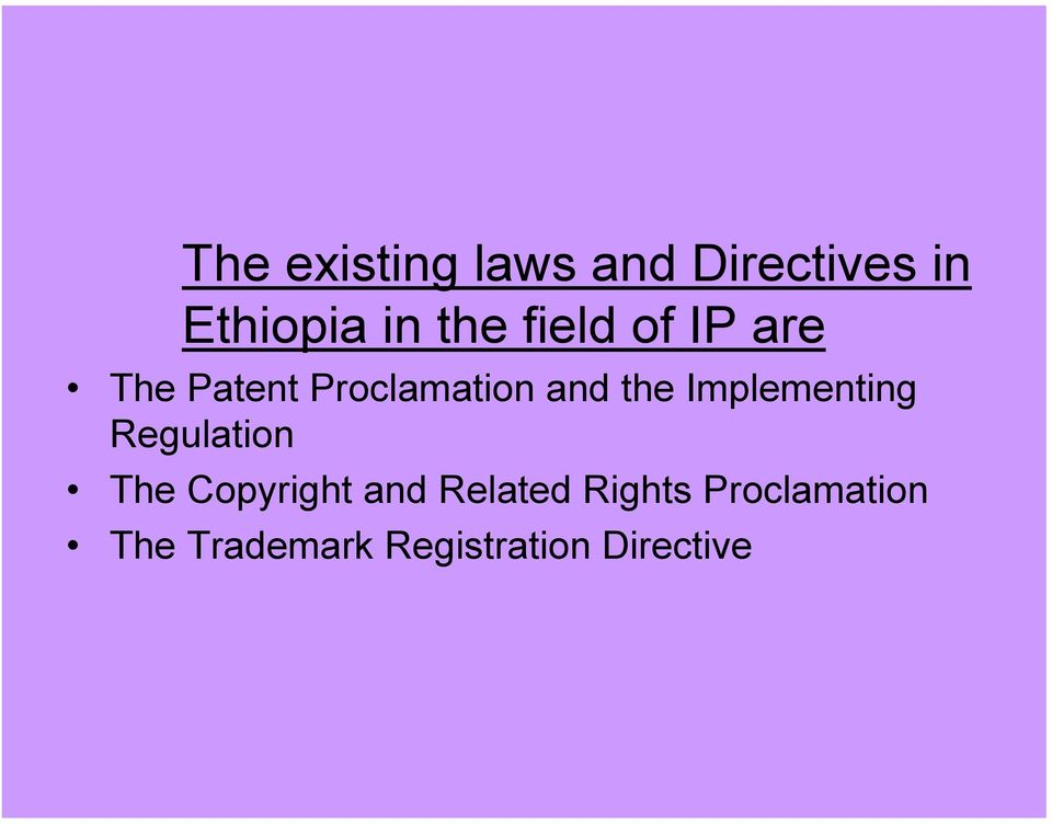 Implementing Regulation The Copyright and Related