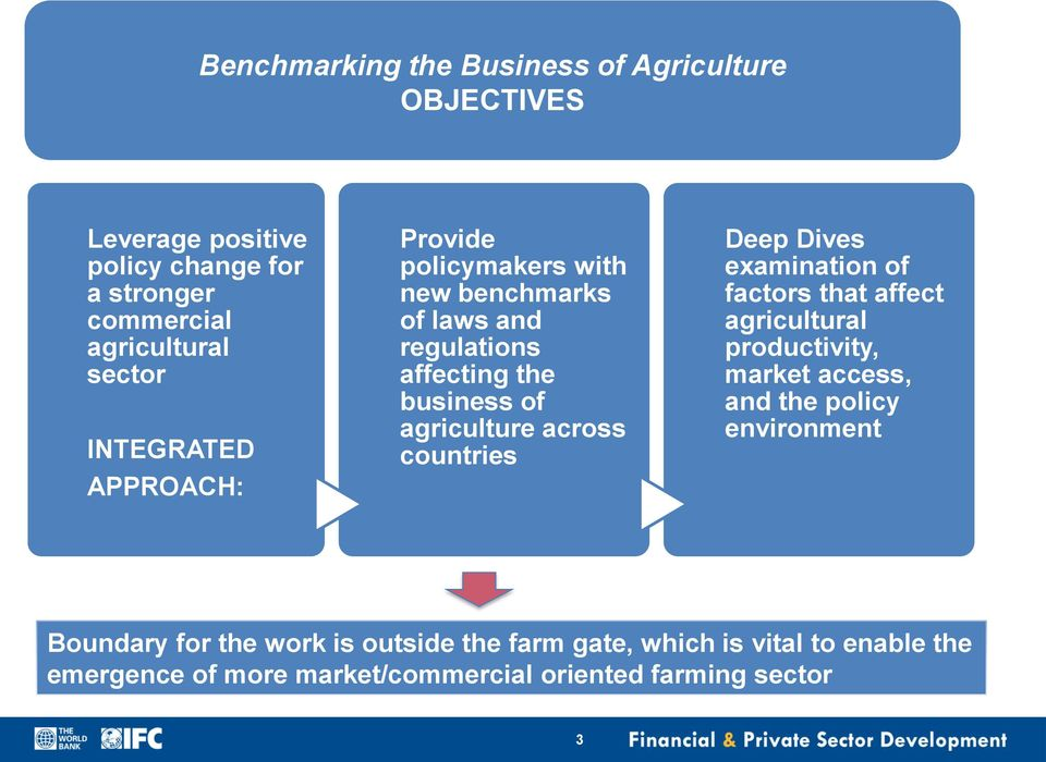 Dives examination of factors that affect agricultural productivity, market access, and the policy environment Boundary