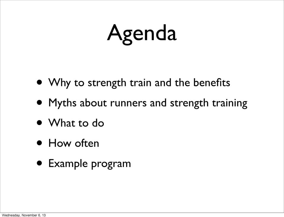 runners and strength training