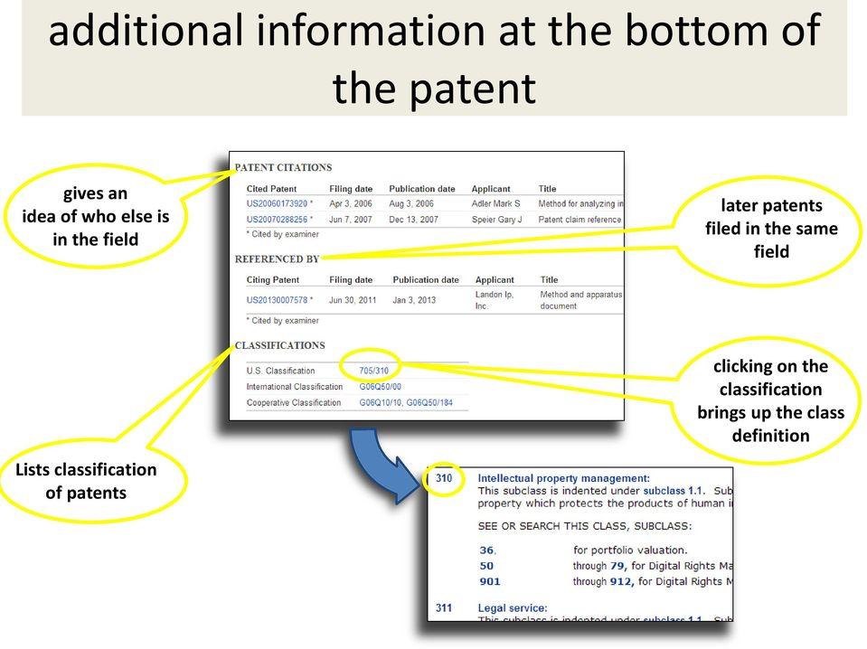 filed in the same field Lists classification of patents