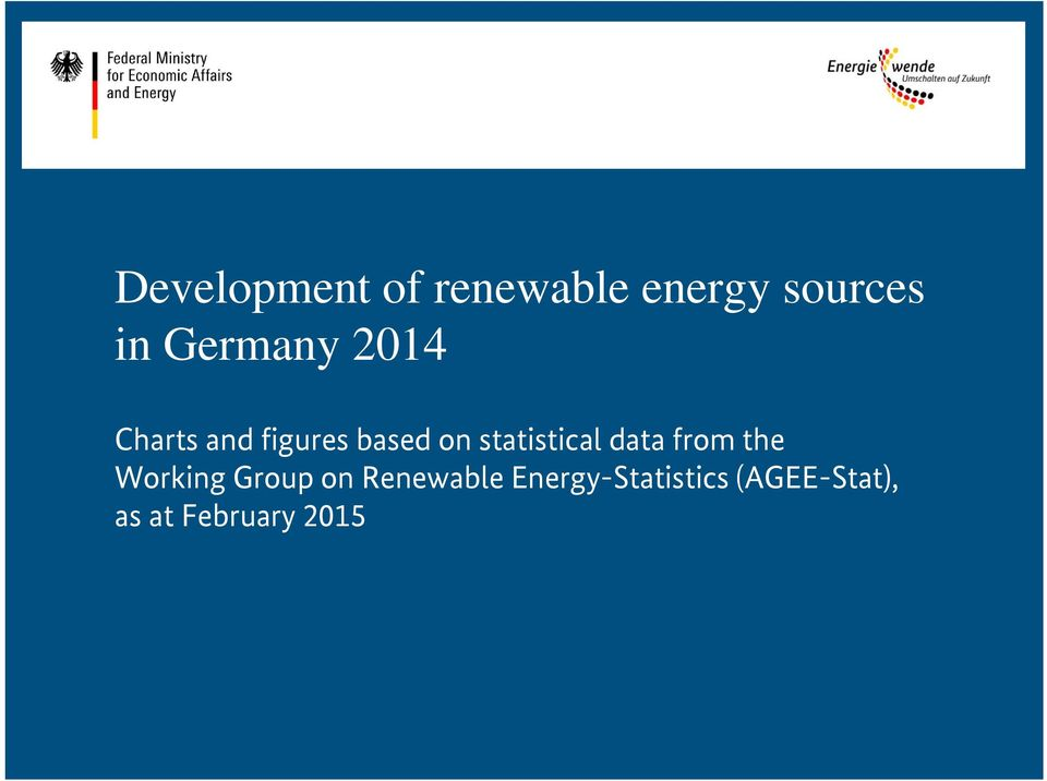 statistical data from the Working Group on