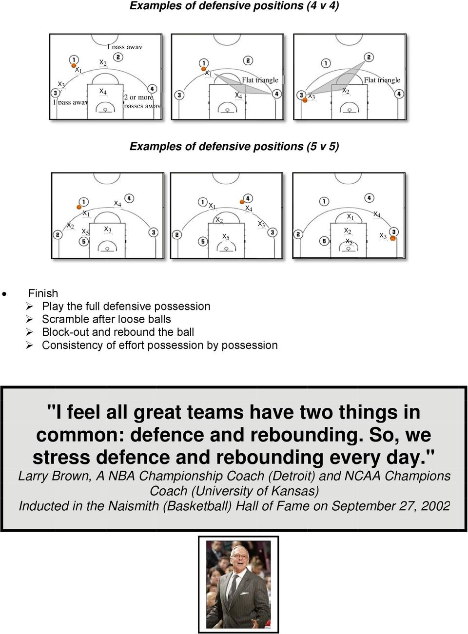 "the ball Consistency of effort possession by possession "" I feel all great teams have two things in common: defence and rebounding."