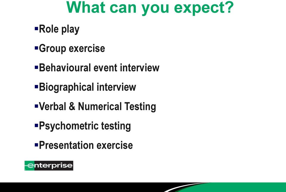 event interview Biographical interview