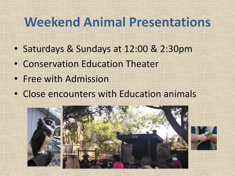 Conservation Education Theater Free