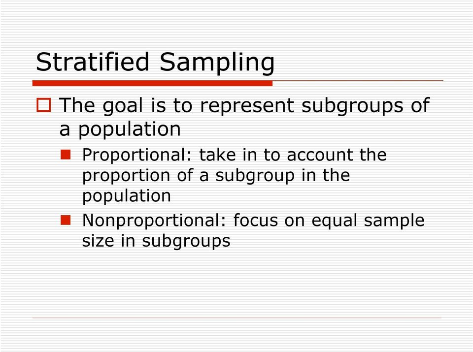 account the proportion of a subgroup in the