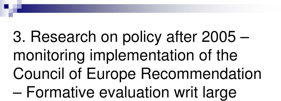 Council of Europe Recommendation