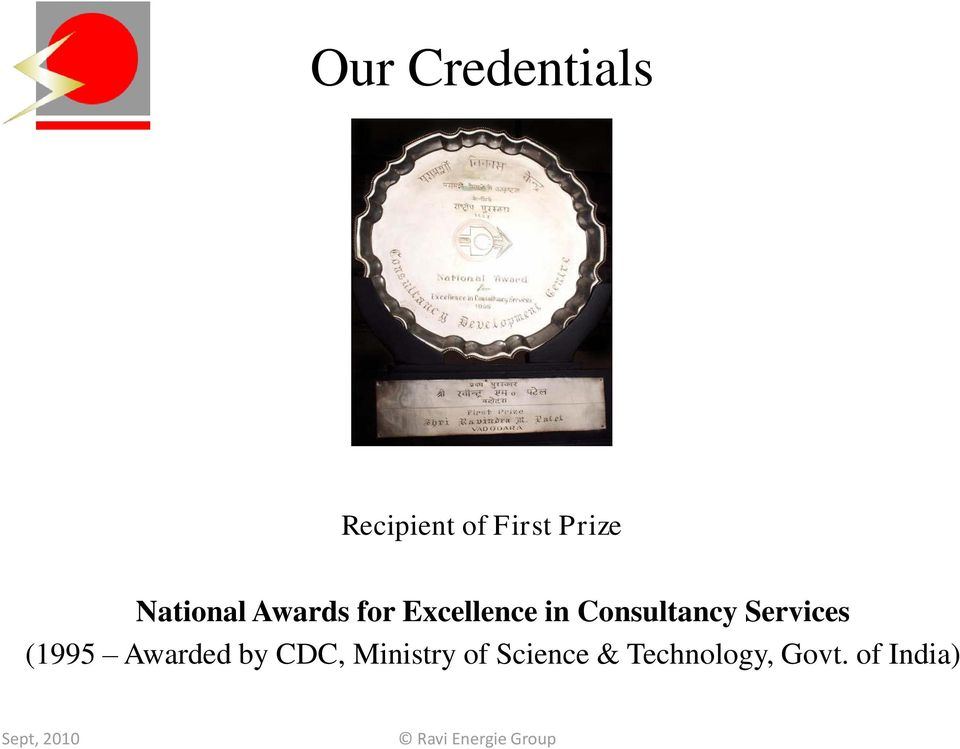 Consultancy Services (1995 Awarded by
