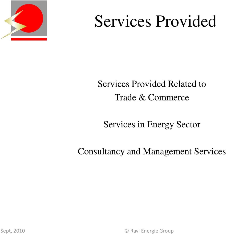 Commerce Services in Energy