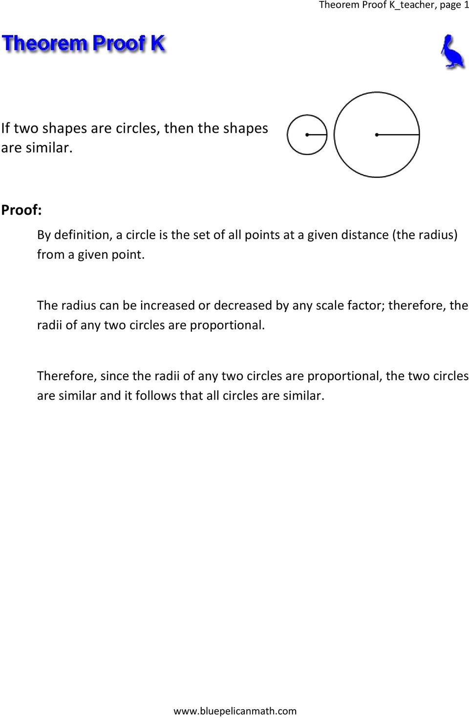 proofs of limit theorems pdf