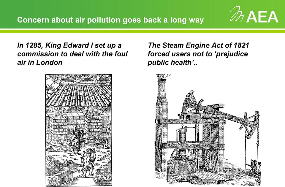 with the foul air in London The Steam Engine Act