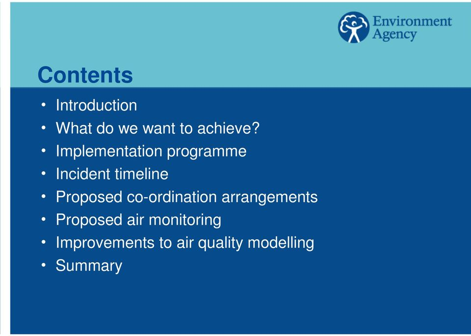 Proposed co-ordination arrangements h Proposed air