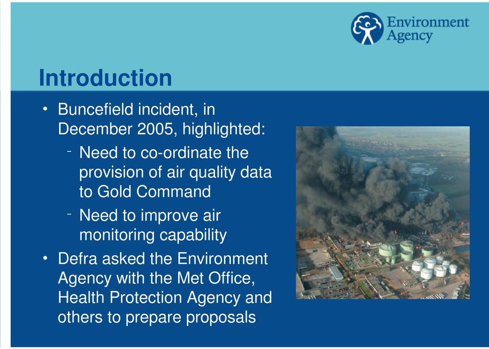 improve air monitoring capability h Defra asked the Environment Agency