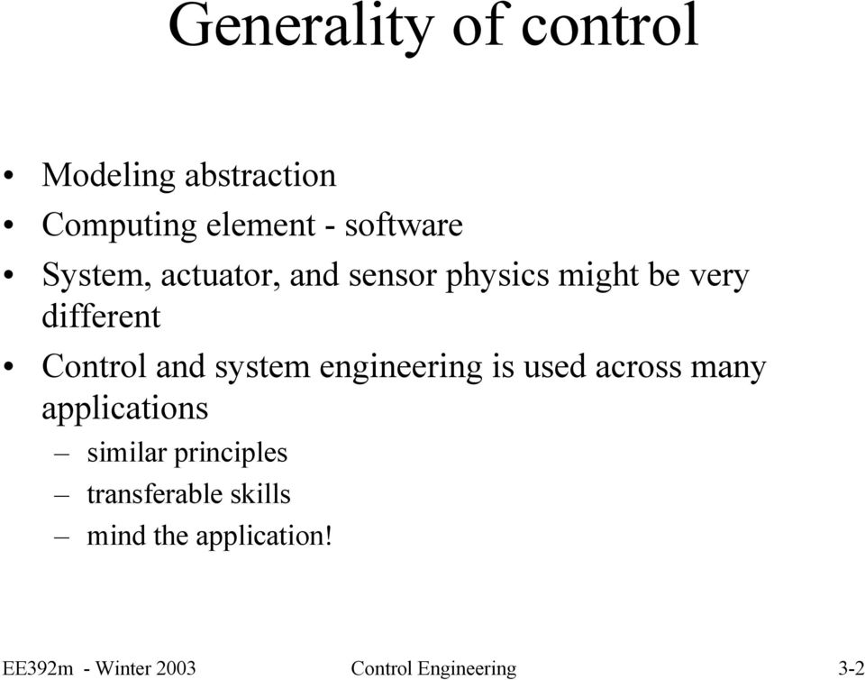 system engineering is used across many applications similar principles