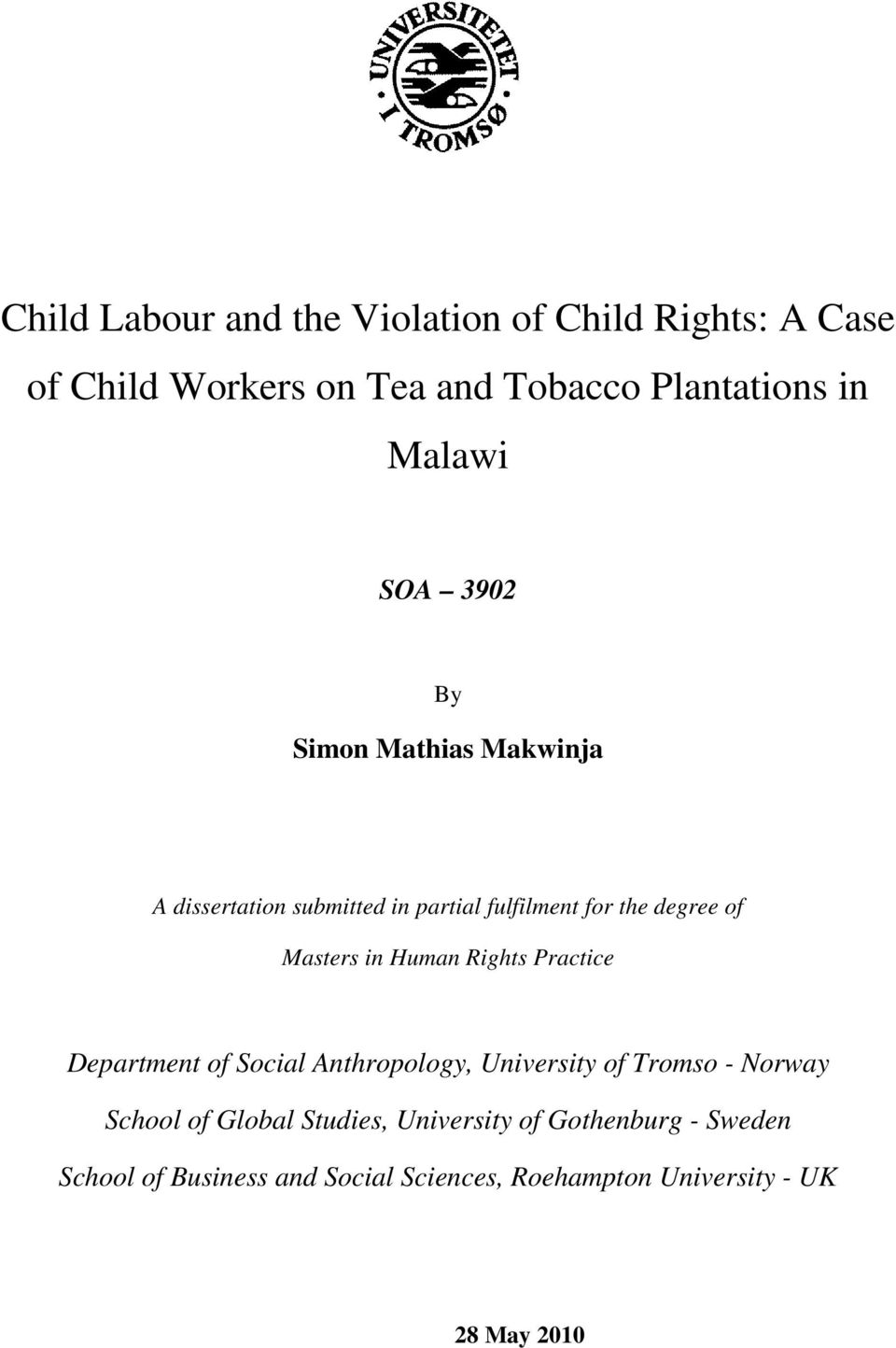 child labour on tobacco plantations a Child labour in tobacco plantations  an ilo-ipec study on child labour in plantation in jember district, east java in collaboration with community social .