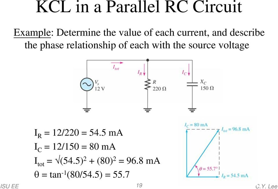 the source voltage I R = 12/220 = 54.