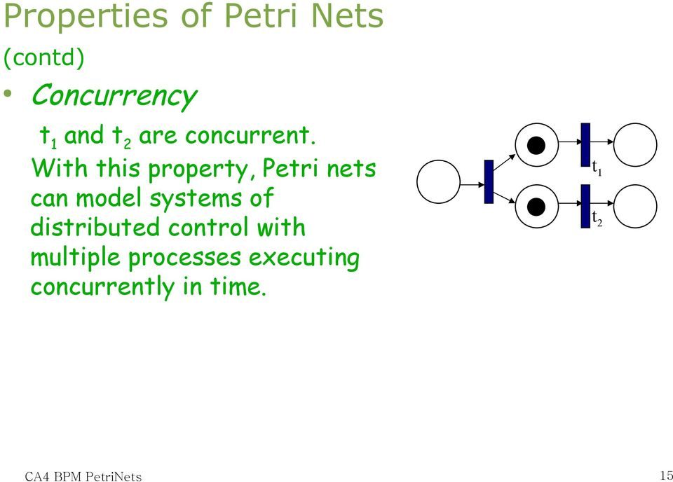 With this property, Petri nets can model systems of