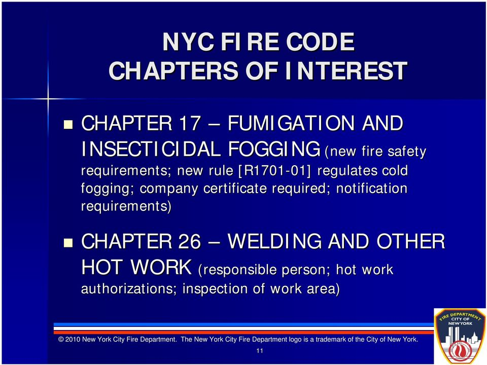 company certificate required; notification requirements) CHAPTER 26 WELDING AND