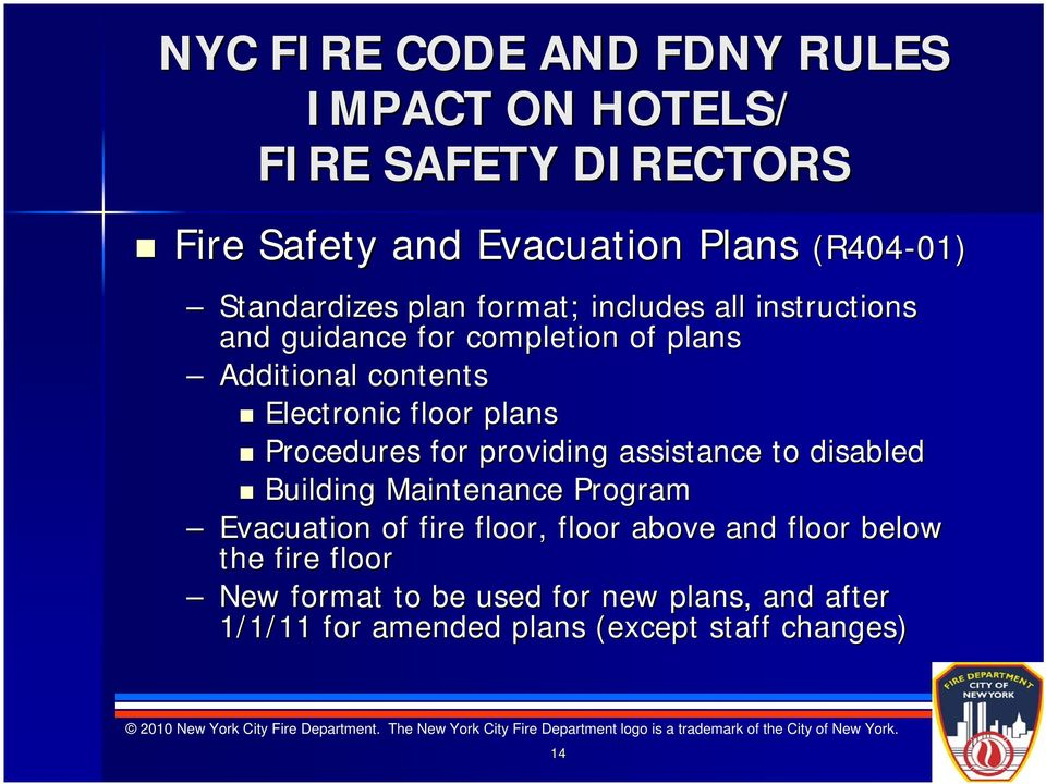 floor plans Procedures for providing assistance to disabled Building Maintenance Program Evacuation of fire floor, floor