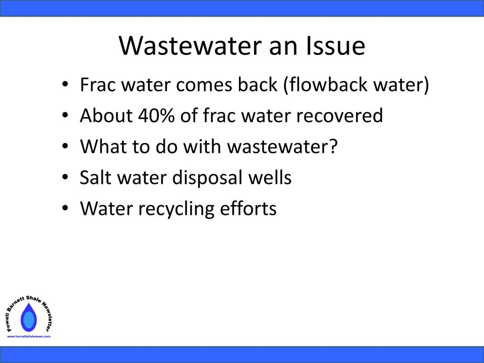 recovered What to do with wastewater?