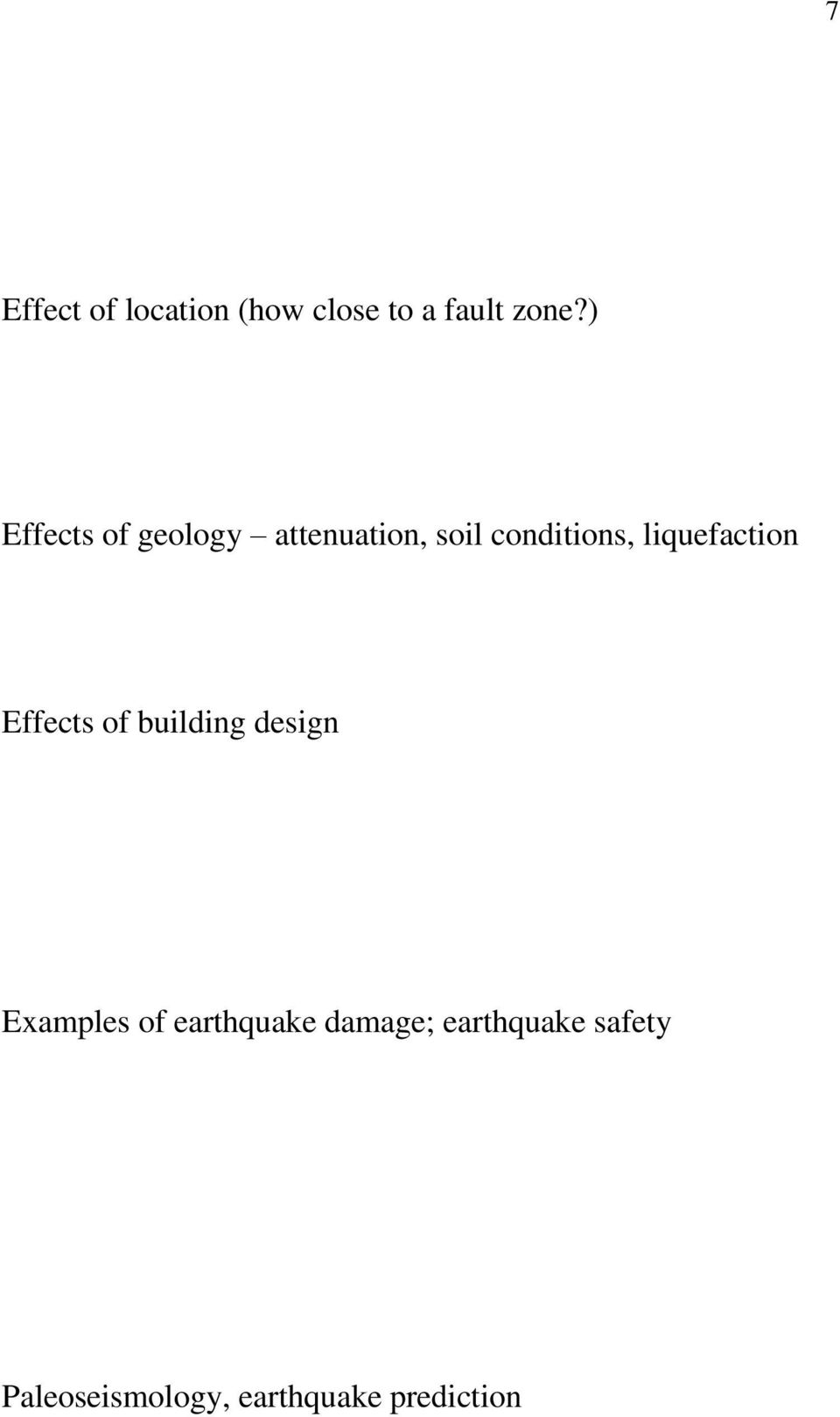 liquefaction Effects of building design Examples of