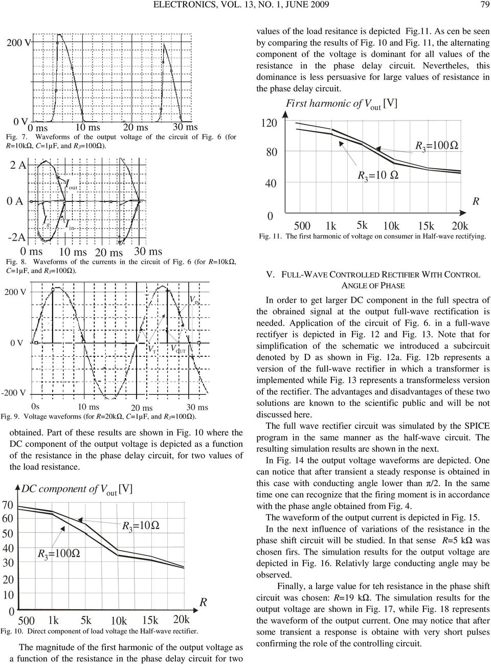 A Thyristor Full Wave Rectifier With Control Of The Conducting Circuit Averaging Filter Pictures Part These Results Are Shown In Ig 1 Where C Component