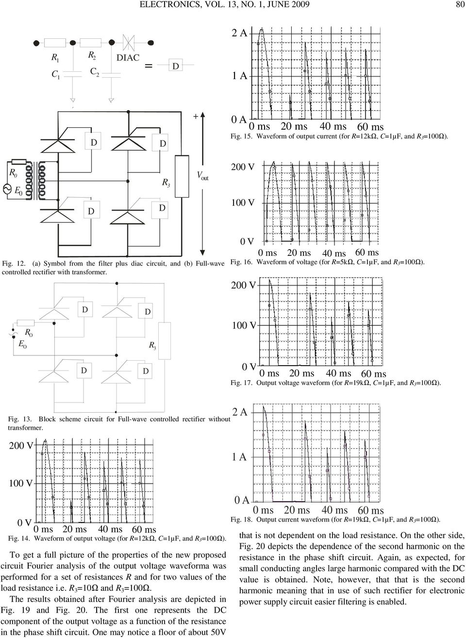 A Thyristor Full Wave Rectifier With Control Of The Conducting Shows Voltages And Current In Simple Half Circuit Block Scheme For Ull Controlled Without Transformer 1