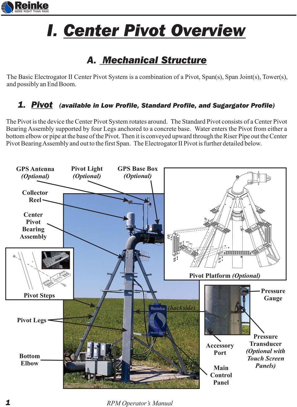 Standard Center Pivot Pdf Irrigation Wiring Diagrams The Consists Of A Bearing Assembly Supported By Four Legs Anchored To