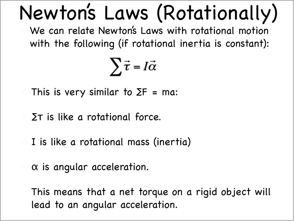 is like a rotational force.