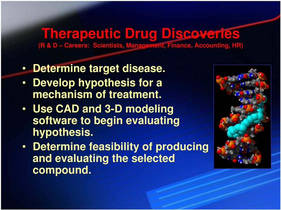 Develop hypothesis for a mechanism of treatment.