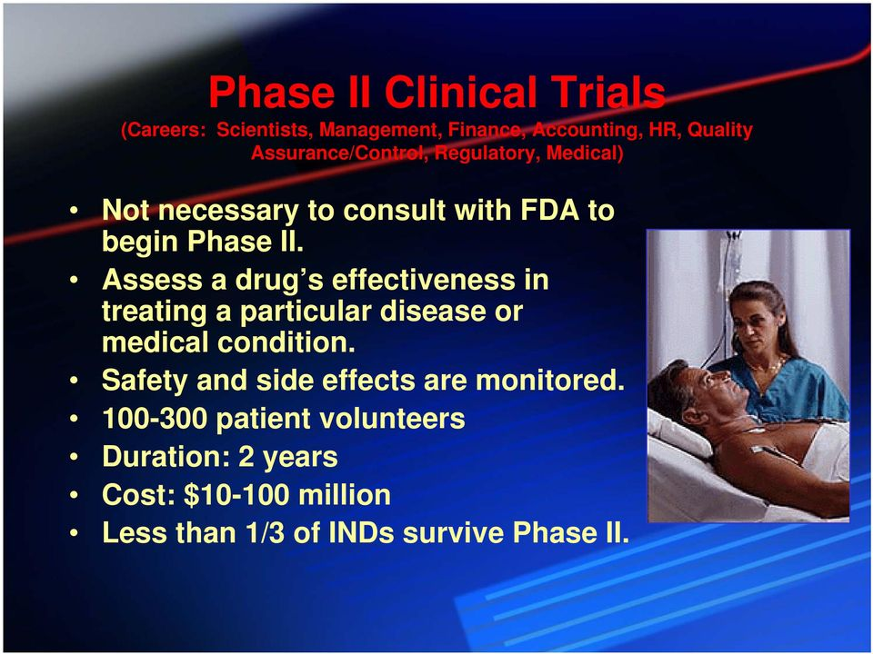 Assess a drug s effectiveness in treating a particular disease or medical condition.