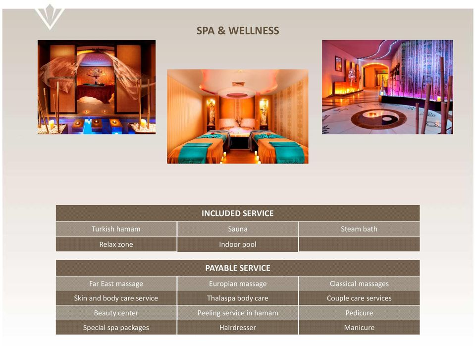 massages Skin and body care service Thalaspa body care Couple care services