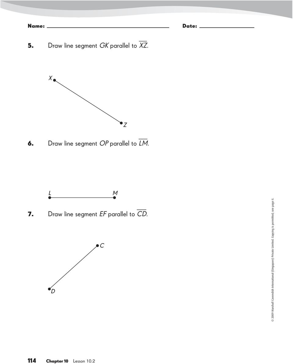 Drawing Lines With D : Perpendicular and parallel line segments worksheet