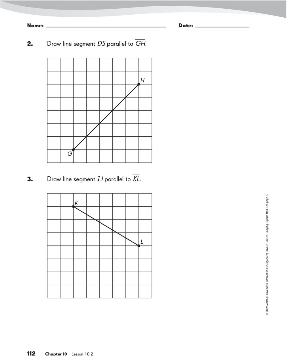 Line Segment And Line Drawing Algorithm : Perpendicular and parallel line segments worksheet