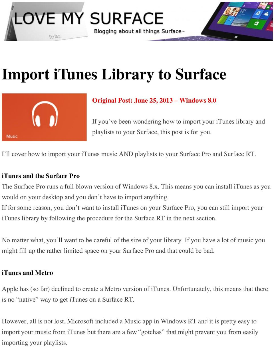 How to install itunes on windows 8 surface