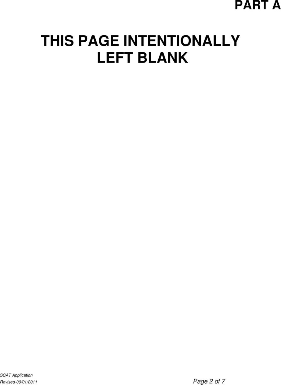 LEFT BLANK PART A