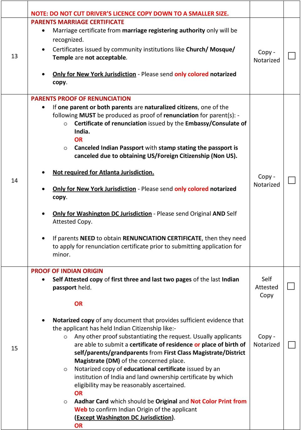 Oci misc change of addressoccupation minor us passport holder pdf parents proof of renunciation if one parent or both parents are naturalized citizens one of 1betcityfo Images