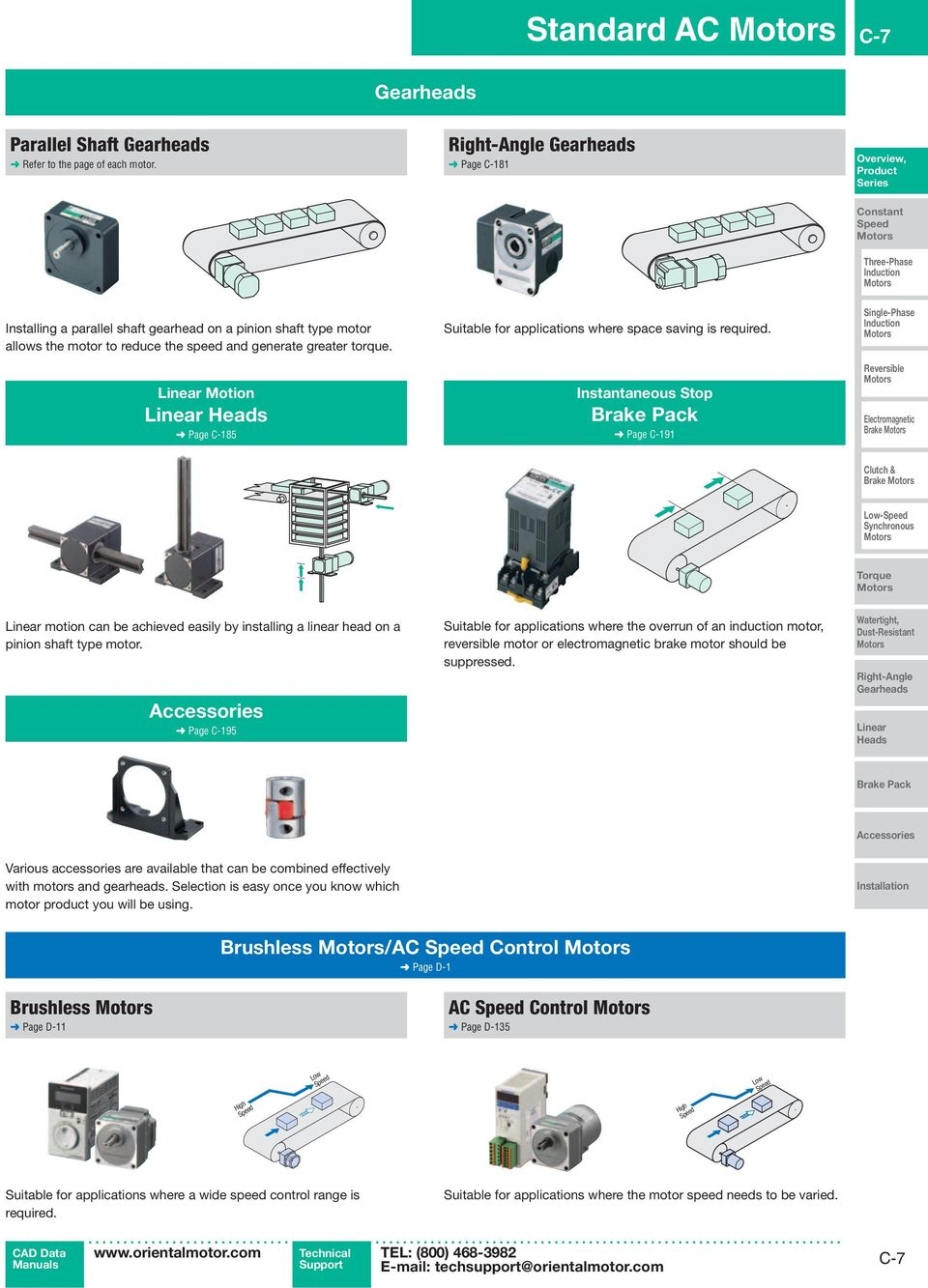 Linear Motion Linear Heads Page C-185 Suitable for applications where space saving is required.