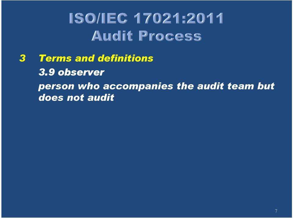 accompanies the audit
