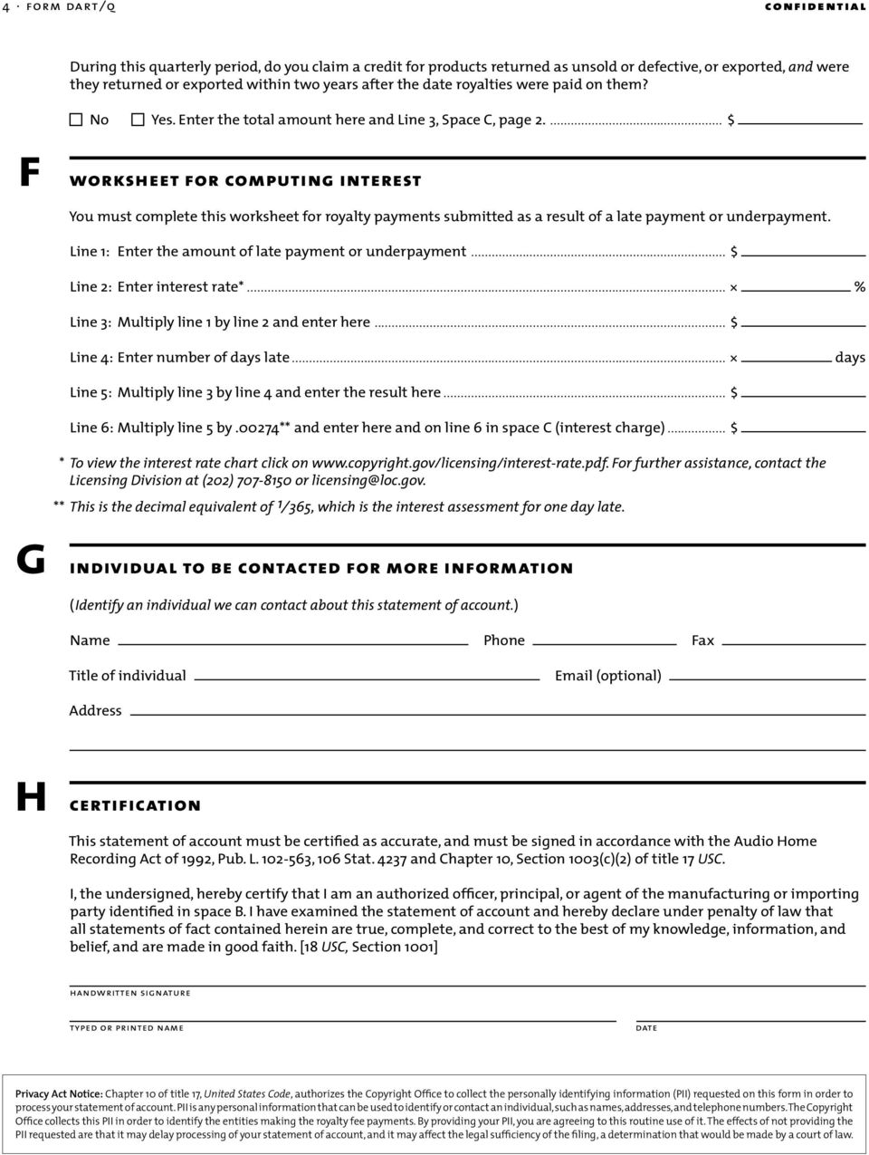 ... $ worksheet for computing interest You must complete this worksheet for royalty payments submitted as a result of a late payment or underpayment.