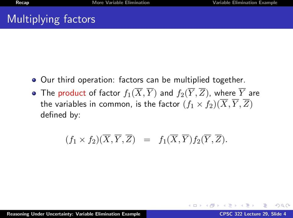 common, is the factor (f 1 f 2 )(X, Y, Z) defined by: (f 1 f 2 )(X, Y, Z) = f 1 (X, Y