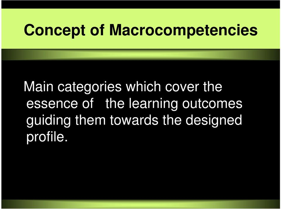 essence of the learning outcomes