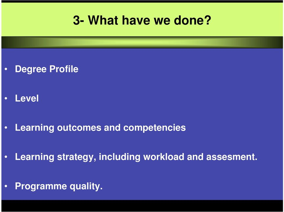 outcomes competencies Learning