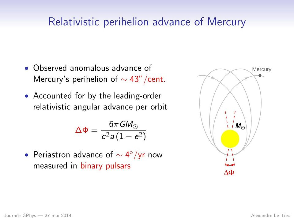 Mercury Accounted for by the leading-order relativistic angular