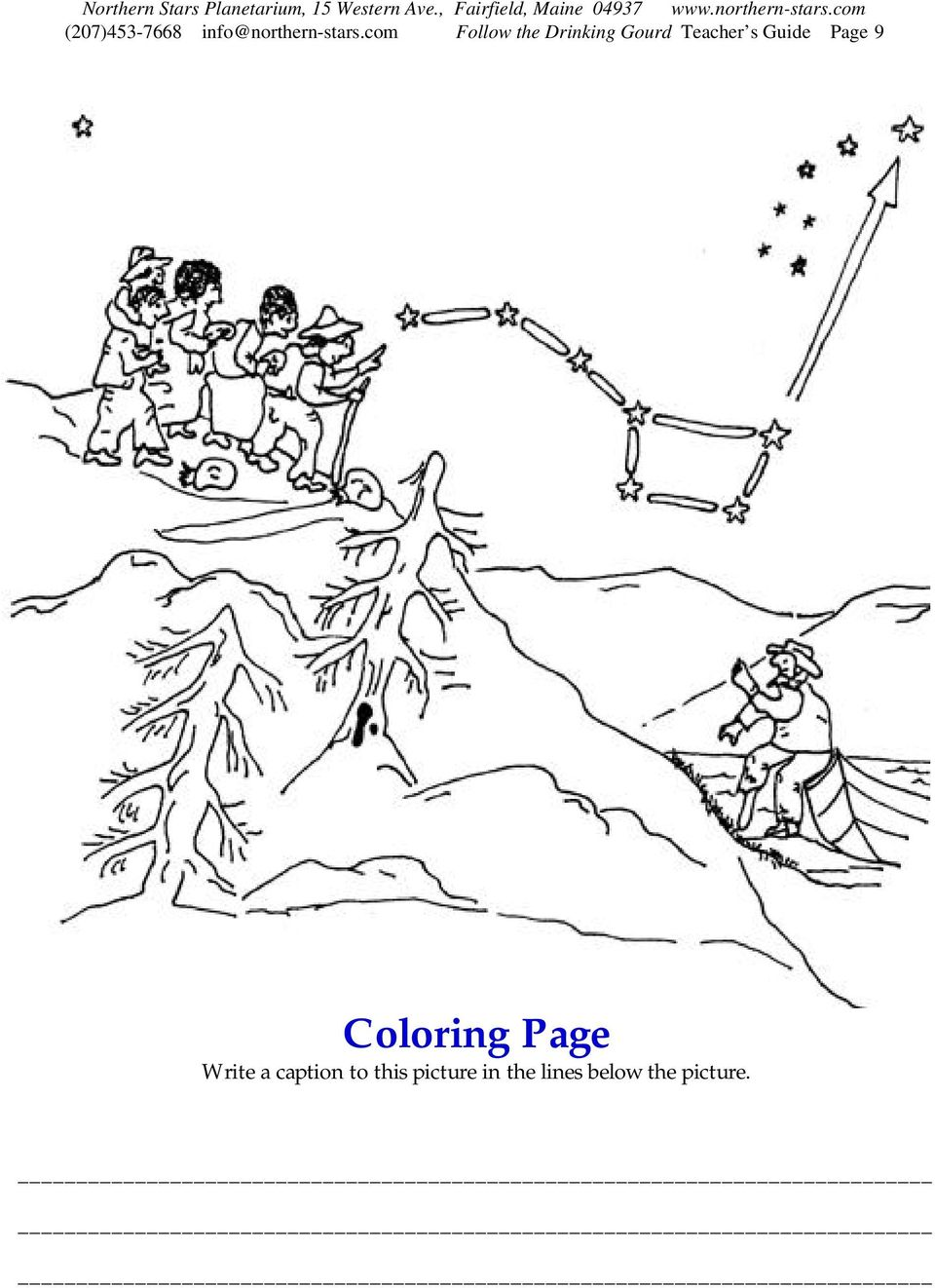 Guide Page 9 Coloring Page Write a