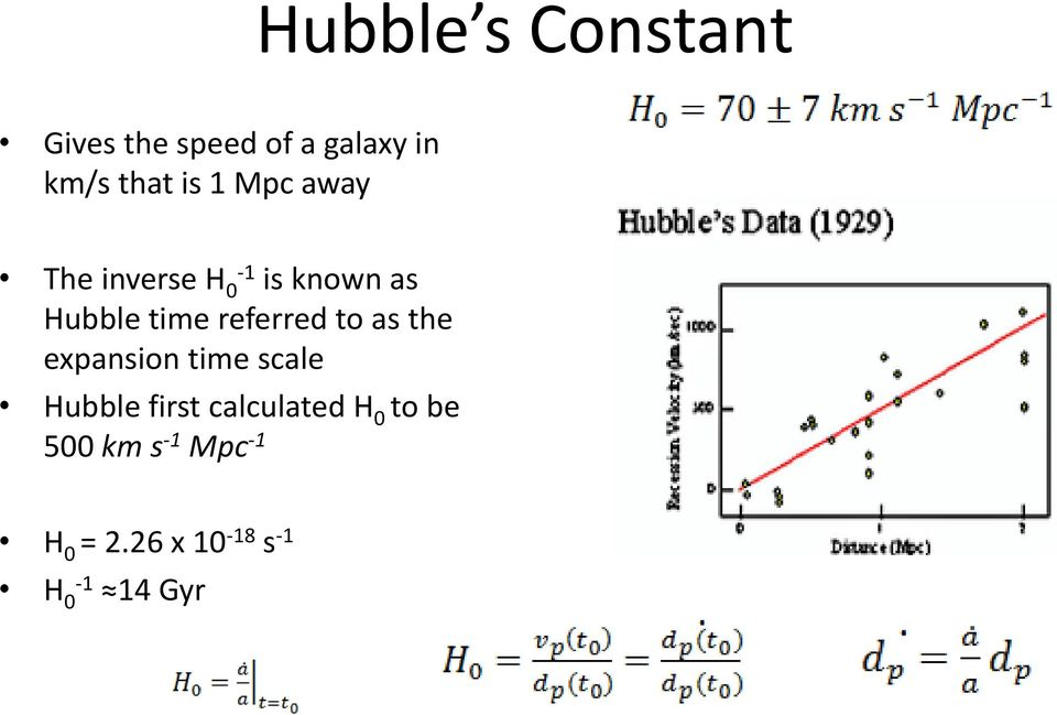 referred to as the expansion time scale Hubble first