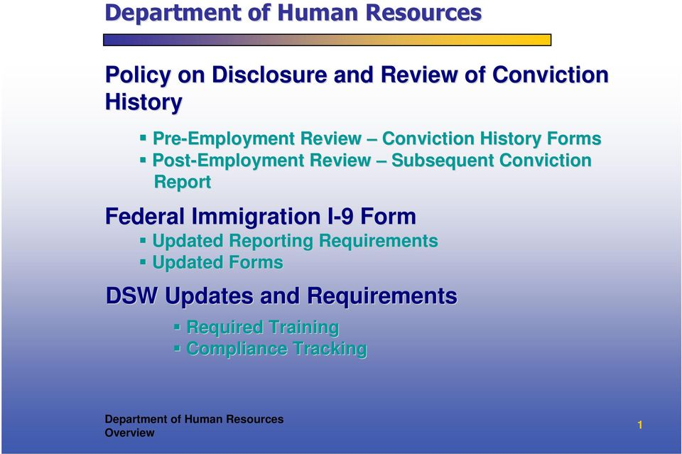 Federal Immigration I-9 I 9 Form Updated Reporting Requirements Updated Forms DSW