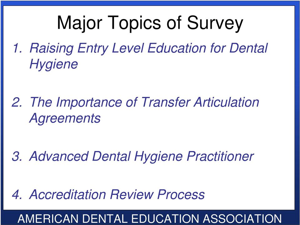 Dental Hygienist importance of minor subjects in college